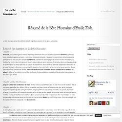 la bete humain emile zola chapitre 2 analyse