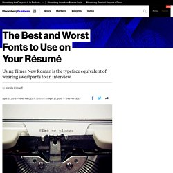 The Best and Worst Fonts to Use on YourRésumé