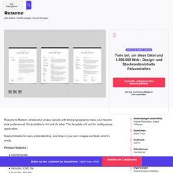 Resume von BOXKAYU auf Envato Elements