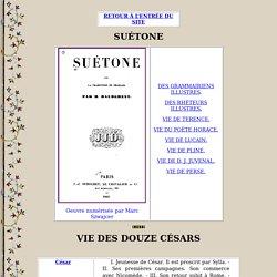 Résumé des chapitres de Suétone