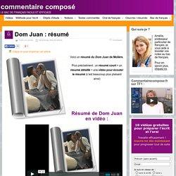 Dom Juan : résumé