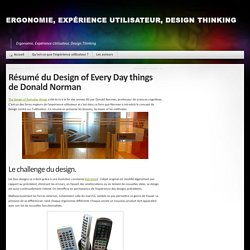 Résumé du Design of Every Day things de Donald Norman