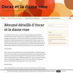 Résumé détaillé d'Oscar et la dame rose - Oscar et la dame rose