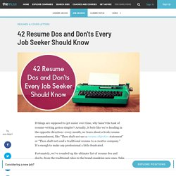 Resume Dos and Don'ts - Resume Tips