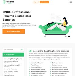 7200+ Free Resume Examples & Samples For Any Job. Get Hired Now!