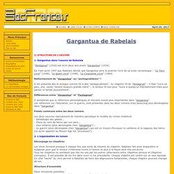 Résumé sur Gargantua de Rabelais