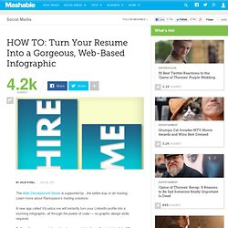 HOW TO: Turn Your Resume Into a Gorgeous, Web-Based Infographic