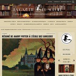 Résumé de Harry Potter à l'école des sorciers