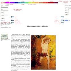 Résumé de l'histoire d'Orphée - [Orphee (Odilon Redon, 1900)]