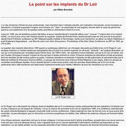Résumé sur les implants du Dr Leir