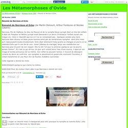 Résumé de Narcisse et Echo - Les Métamorphoses d'Ovide
