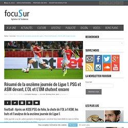 Résumé de la onzième journée de Ligue 1. PSG et ASM devant, L'OL chute