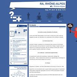 En résumé - Les Petits Débrouillards Rhône-Alpes