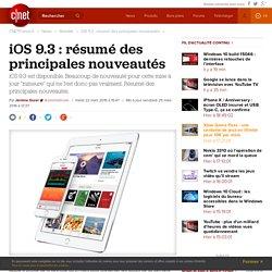 iOS 9.3 : résumé des principales nouveautés
