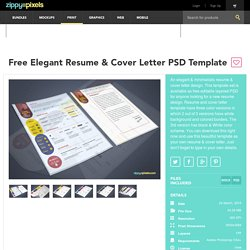 Free PSD Resume & Cover Letter Template