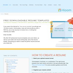 277 Free Resume Templates and Samples for Microsoft Word