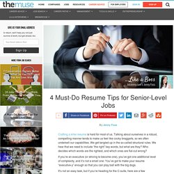 Resume Tips for an Executive Resume