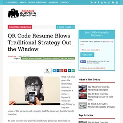 QR Code Resume Blows Traditional Strategy Out the Window