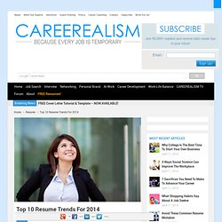 Top 10 Resume Trends For 2014