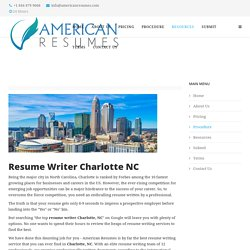 Resume Writer Charlotte NC