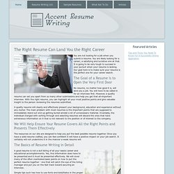 Resume Writing- Copy from Great Resumes
