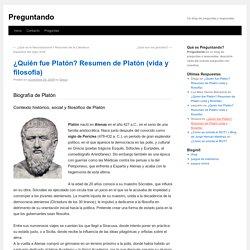 ¿Quién fue Platón? Resumen de Platón (vida y filosofía)