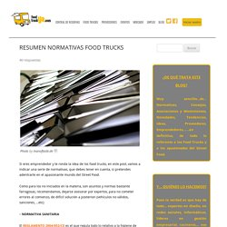 RESUMEN NORMATIVAS FOOD TRUCKS