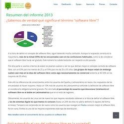 Resumen informe de Valoracion del software libre (2013)