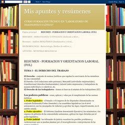 Mis apuntes y resúmenes: RESUMEN - FORMACION Y ORIENTACION LABORAL (FOL)