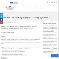 2 resumes torn apart by Applicant Tracking System(ATS) - Ryno Resumes