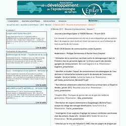 IRD 19/04/13 EPITER—JOURNEE SCIENTIFIQUE DU 19 AVRIL 2013 A RENNES - Au sommaire:* Identifier et étudier l'impact de contaminati