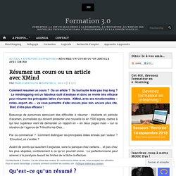 Résumez un cours ou un article avec XMind – Formation 3.0