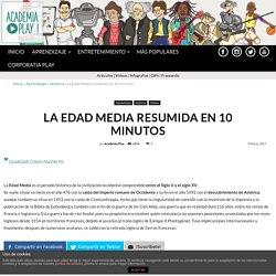 La Edad Media resumida en 10 minutos - academiaplay