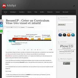 ResumUP : Créer un Curriculum Vitae très visuel et intuitif