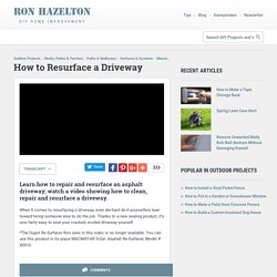 How to Resurface a Driveway