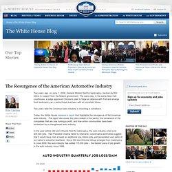Summify - El resurgimiento de la industria del automóvil estadounidense