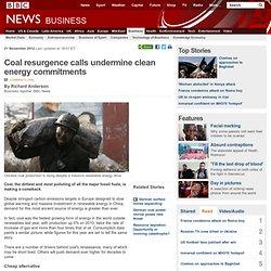 Coal resurgence calls undermine clean energy commitments