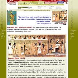 Pagan Christ Isis Osiris Egyptian dying and rising resurrected savior myth jesus christ christianity
