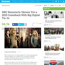 NBC Resurrects 'Heroes' For a 2015 Comeback With Big Digital Tie-In