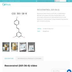 Buy Resveratrol (501-36-0) Manufacturer - Cofttek