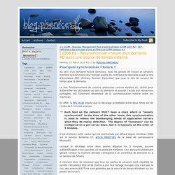 2008 R2 – Resynchroniser l'heure d'un domaine AD avec une source de temps externe