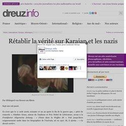 Rétablir la vérité sur Karajan et les nazis