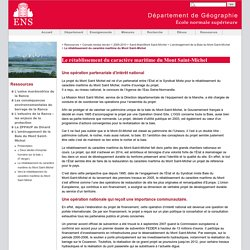 Le rétablissement du caractère maritime du Mont Saint-Michel