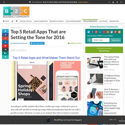 Top 5 Retail Apps That are Setting the Tone for 2016