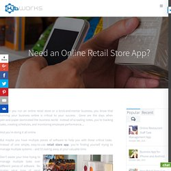 Retail Store App- Online Retail Business Monitoring