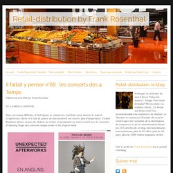 Retail-distribution, le blog de Frank Rosenthal