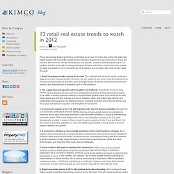 12 retail real estate trends to watch in 2012 | Kimco Realty Blog