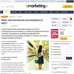 Etude - Consommateurs en 2012