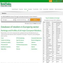Retail in Europe database