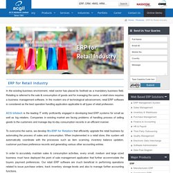 ERP for Retail Industry, Best Retail ERP Software in India